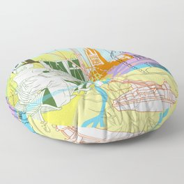 Norwich- City of Stories Floor Pillow