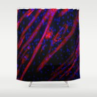 muscle Shower Curtains featuring Microscopic Muscle Cells by Sumii Haleem