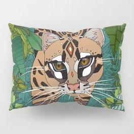 ocelot jungle green Pillow Sham