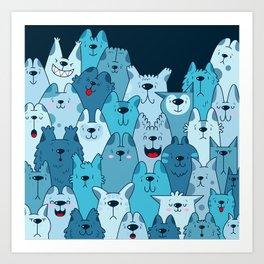 Pile of Meows Art Print