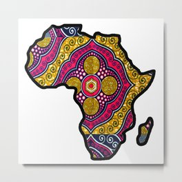 Pink Purple Africa Map Metal Print