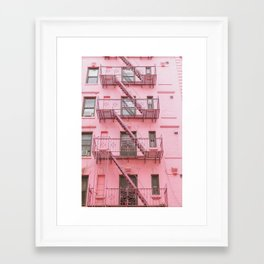 Pink Soho NYC Framed Art Print