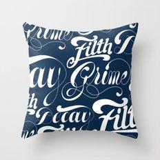 Grimey Type. Throw Pillow