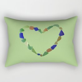 And the Greatest of These is Love #heart #seaglasssmiles Rectangular Pillow