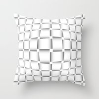 bands Throw Pillows featuring intertwined bands by siloto