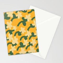Mustard yellow flower pattern Stationery Cards