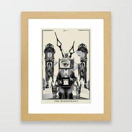 Fig. V - The Hierophant Framed Art Print
