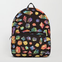 Pattern - watercolor gems Backpack