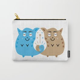 Two sweet cats in love #society6 #decor #buyart #artprint Carry-All Pouch