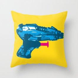 Retro Water Pistol Throw Pillow