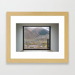 View of Mount Kazbegi, Georgia Framed Art Print