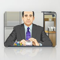 michael scott iPad Cases featuring Steve Carell as Michael Scott (The Office) by Leo Maia