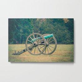 Manassas Artillery in Autumn Field Battle of Bull Run Manassas National Battlefield Park Virginia Metal Print