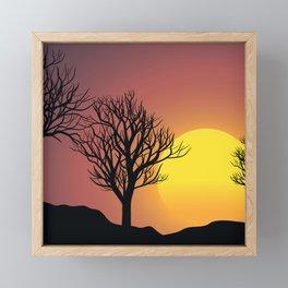 Creepy Sunset Framed Mini Art Print