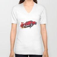 ferrari V-neck T-shirts featuring Ferrari 275 by Claeys Jelle Automotive Artwork
