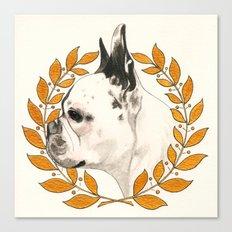 French Bulldog - @french_alice dog Canvas Print