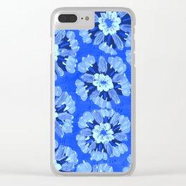 Blue Dakota Rose Clear iPhone Case