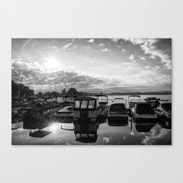 Sunrise at the Pier , Canandaigua Lake Canvas Print