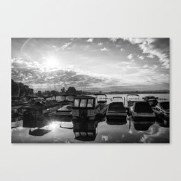 Sunrise at the Pier , Canandaigua Lake Canvas Print