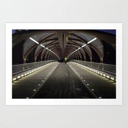 Calgary Peace Bridge Morning Commute Art Print