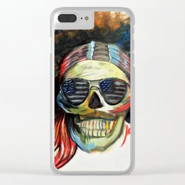 Jimmy Hendrix Clear iPhone Case