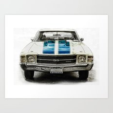CLASSIC CAR LOVE Art Print