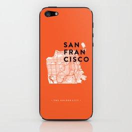 San Francisco Map 04 iPhone Skin