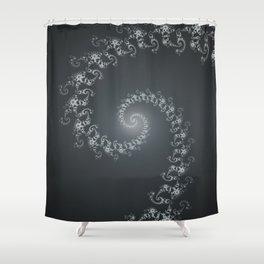 Follow the White Light - Fractal Art Shower Curtain