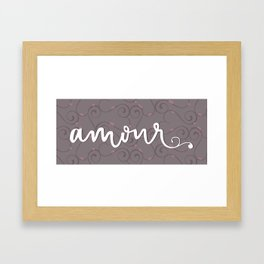 Amour Letterform Framed Art Print