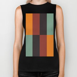 Stripes and swatches Biker Tank