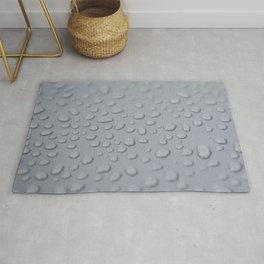 Raindrops in grey Photorealism Rug