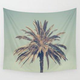 Retro palm tree Wall Tapestry