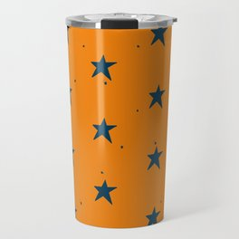Lazy Stars (Tangerine/Blueberry) Travel Mug