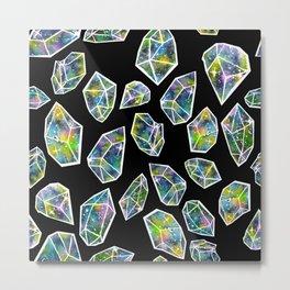 Cosmic Crystals Metal Print