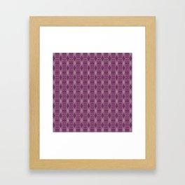 Hopscotch hex-Plum Framed Art Print