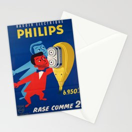 Retro rasoir electrique philips Stationery Cards