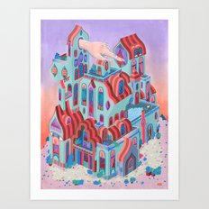 The Pointing House Art Print