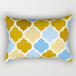 MOROCCAN BROWN AND BLUE DESIGN Rectangular Pillow