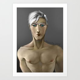 The Boy with White Hair Art Print