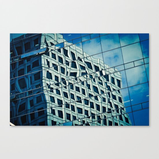 Building Reflections Canvas Print