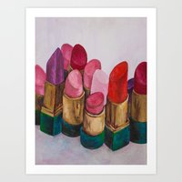 lipstick Art Prints featuring Lipstick by HOMartistry