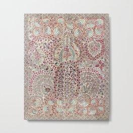 Garden Suzani East Uzbekistan Embroidery Metal Print