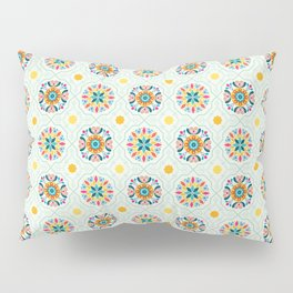 Cheery Modern Moorish Tiles in Minty Moroccan Green Pillow Sham