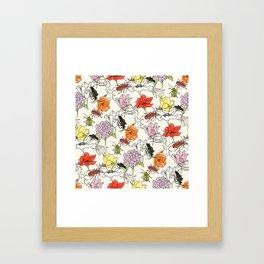 bugs-n-flowers Framed Art Print