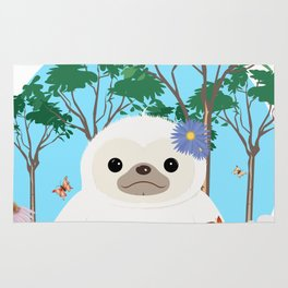 Super cute white two toed Sloth Rug