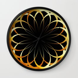 A decorative Celtic fractal flower like a mandala Wall Clock