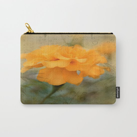Orange Marigold  Raindrop Abstract Carry-All Pouch