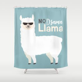 NO DRAMA LLAMA Shower Curtain