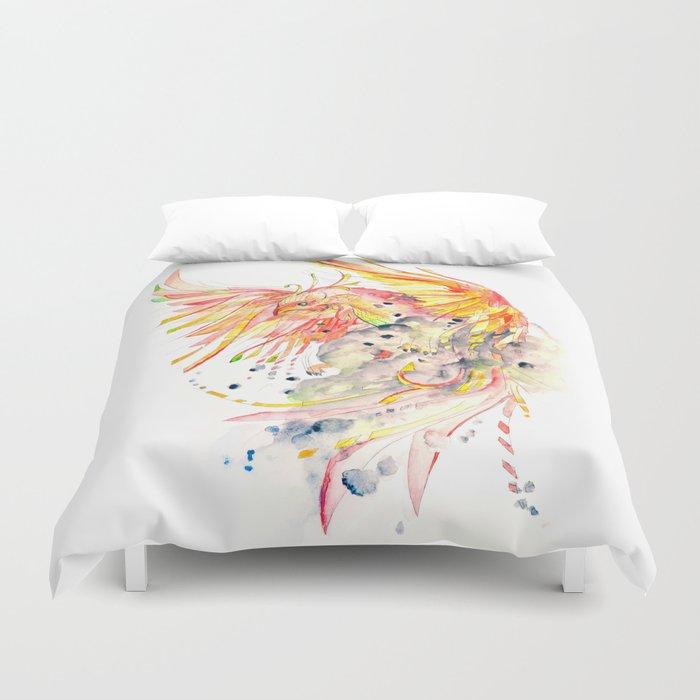 Phoenix Watercolor Duvet Cover