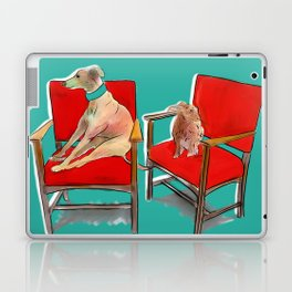 animals in chairs #14 The Greyhound and the Hare Laptop & iPad Skin